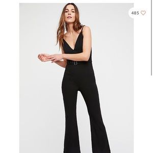 Free people black belted alma jumpsuit! Size 4!